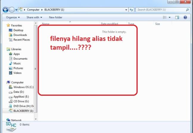 file di flashdisk hilang akibat virus