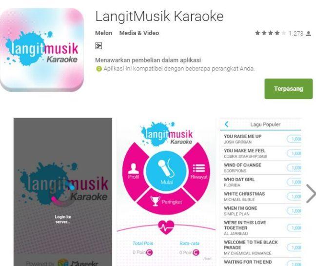 Aplikasi Karaoke Android - Langit Musik Karaoke adalah aplikasi yang memiliki kualitas musik dan video yang sangat baik dan luar biasa.
