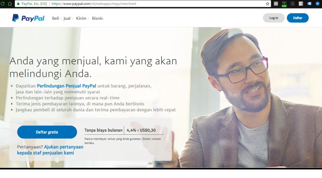 Cara membuat account Paypal