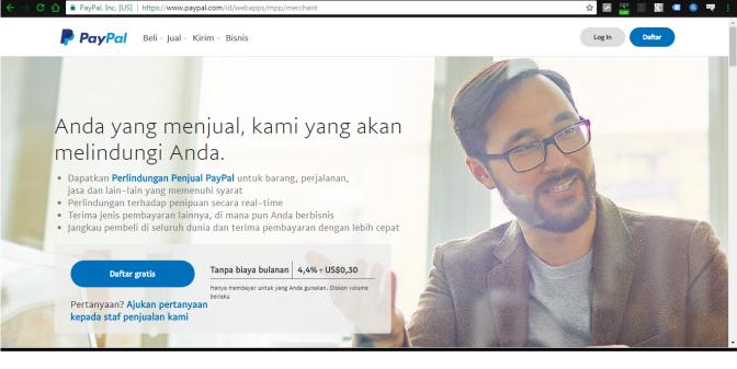Cara Mudah Membuat Account Paypal di Paypal.com