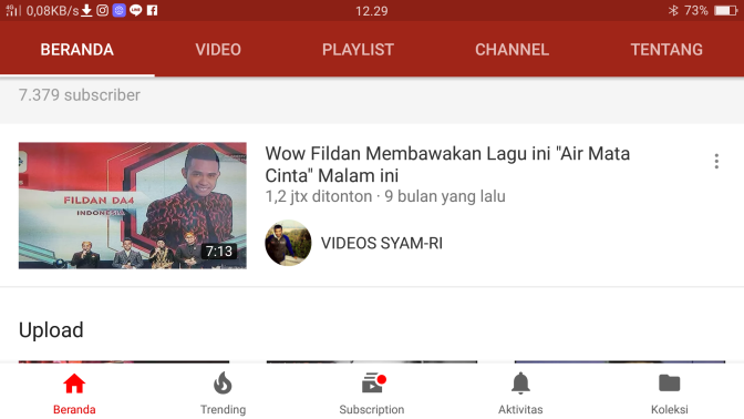 """Wow 1,2 jt Viewers Fildan Membawakan Lagu ini ""Air Mata Cinta"" di YouTube"